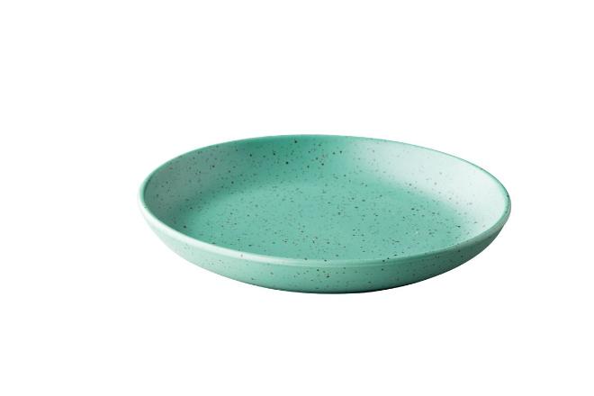 Tinto diep rond bord matt groen