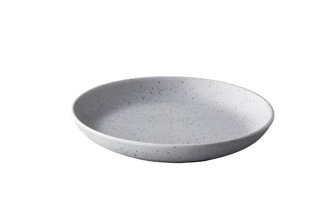 Tinto diep rond bord mat grijs