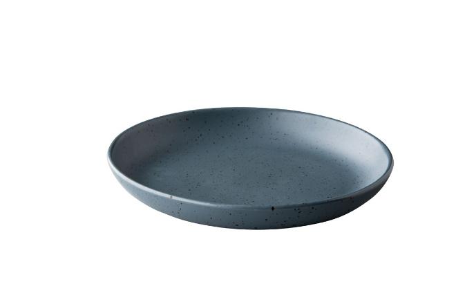 Tinto diep rond bord mat donkergrijs
