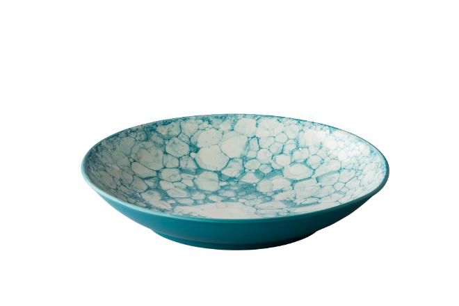 Diep bord Bubble turquoise