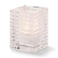 Vierkante Lamp Glas Transparant 7,3 X 10,5 Cm