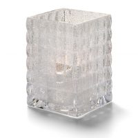 Vierkante Glashouder Trans. Mat 6,5 X 9,5 Cm