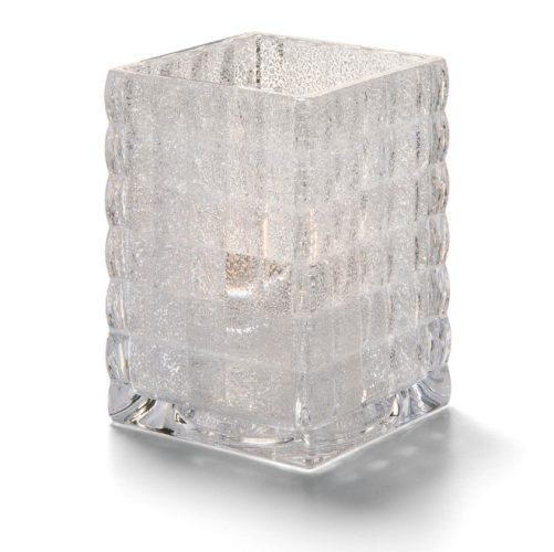 Vierkante glashouder trans. Mat