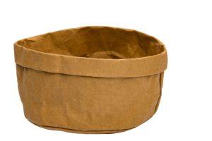 Broodmand Papier Wasbaar Bruin 18 X 18 X 15 Cm
