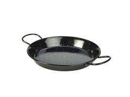 Zwart Emaille Pannetje Paella 26 Cm
