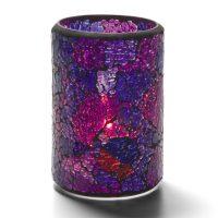 Cilinderlamp Gebarsten Blauw/paars 7,9 X 11,4 Cm