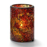 Cilinderlamp Gebarsten Glas Goud 7,9 X 11,4 Cm