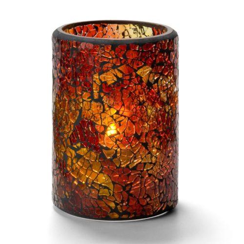 Cilinderlamp gebarsten glas goud
