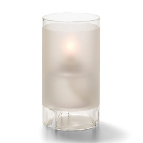 Cilindermodel hoog glas mat wit