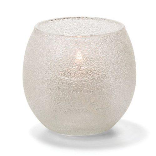 Theelicht luchtbel glas transparant