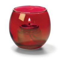 Theelicht Luchtbel Glas Robijn Helder 6,7 X 6 Cm