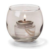 Theelicht Luchtbel Glas Trans. Zwart 6,7 X 6 Cm