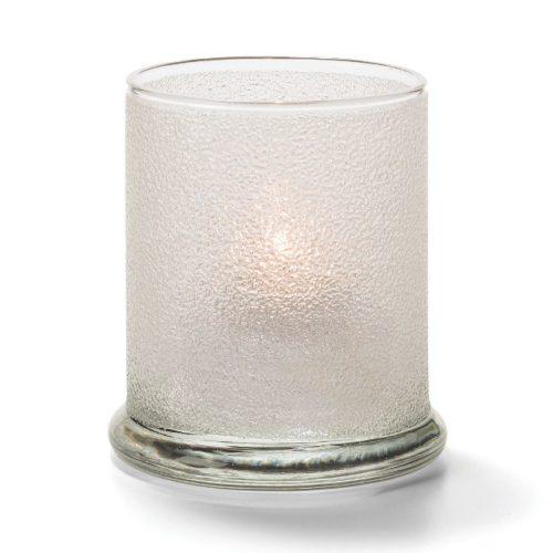 Cilinder glas breed onderstel transp.