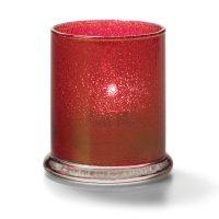 Cilinder Glas Breed Onderstel Rood 7,6 X 9 Cm