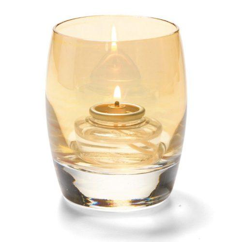 Bolvormige lamp glas goud