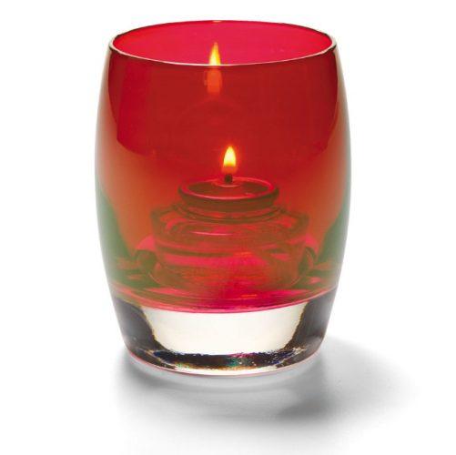 Bolvormige lamp glas rood
