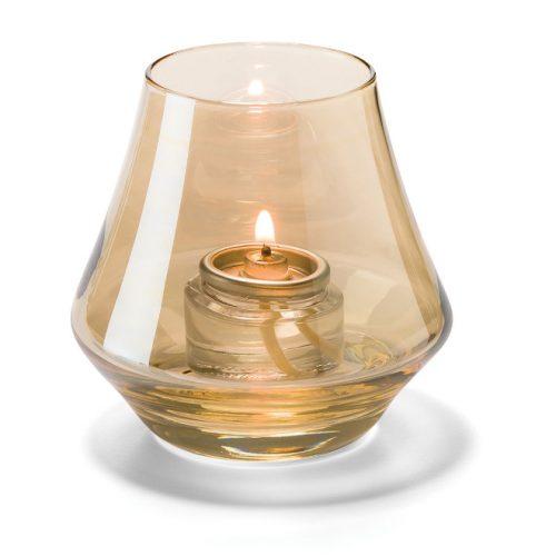 Conische lamp glas goud helder