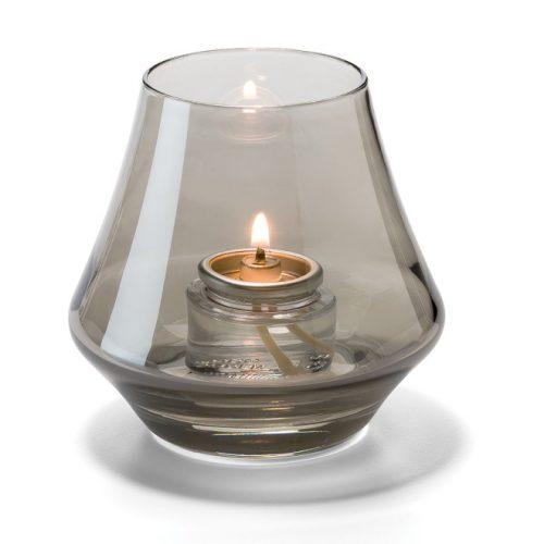 Conische lamp glas rook helder