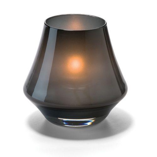 Conische lamp glas zwart mat
