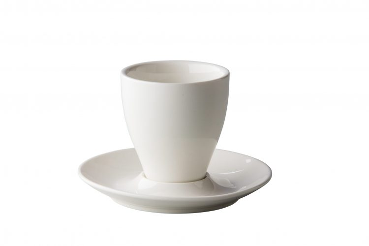 latte/cappuccino schotel bolvormig