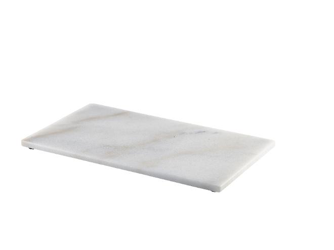 Wit marmeren plateau rechthoekig