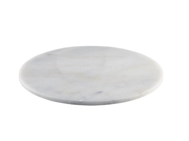Wit marmeren plateau rond