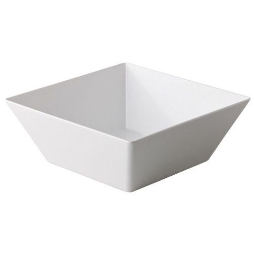 Vierkante bak wit
