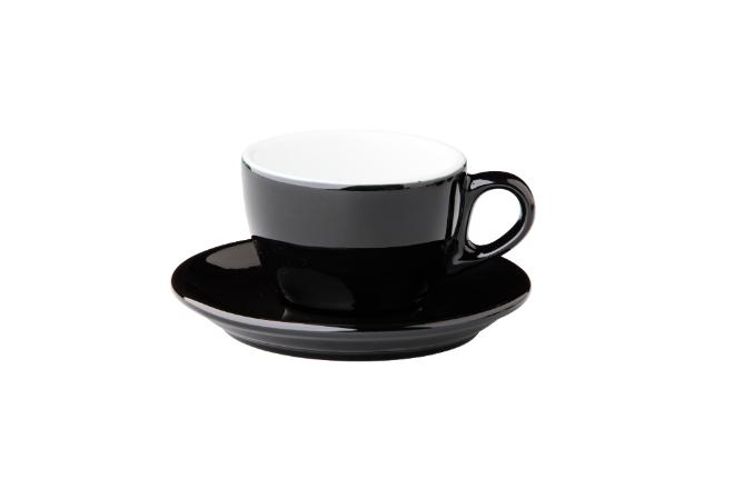 Barista cappuccino kop zwart
