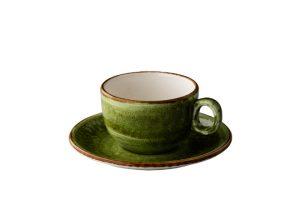 Jersey Cappuccino Kop Stapelbaar Groen 200 Ml