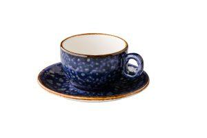 Jersey Cappuccino Kop Stapelbaar Blauw 200 Ml