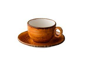 Jersey Cappuccino Kop Stapelbaar Oranje 200 Ml