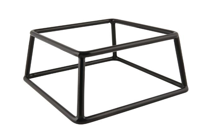 buffetverhoger antislip zwart vierkant