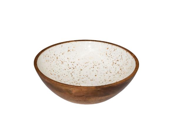 houten buffetschaal wit met goud