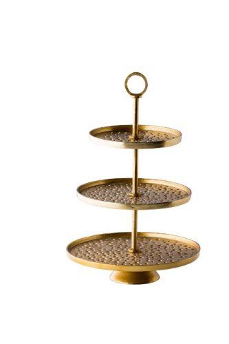 Gouden etagère 3-laags