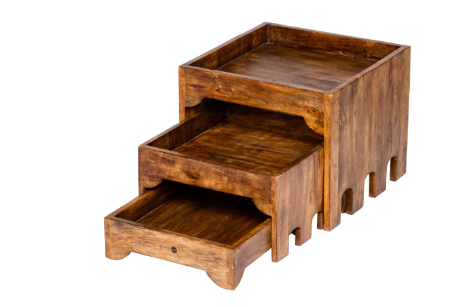 houten buffet kast 3 laags