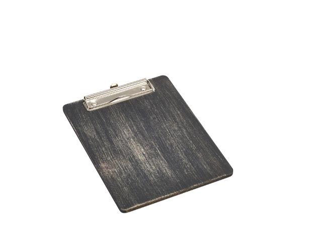 Houten menu-klembord zwart