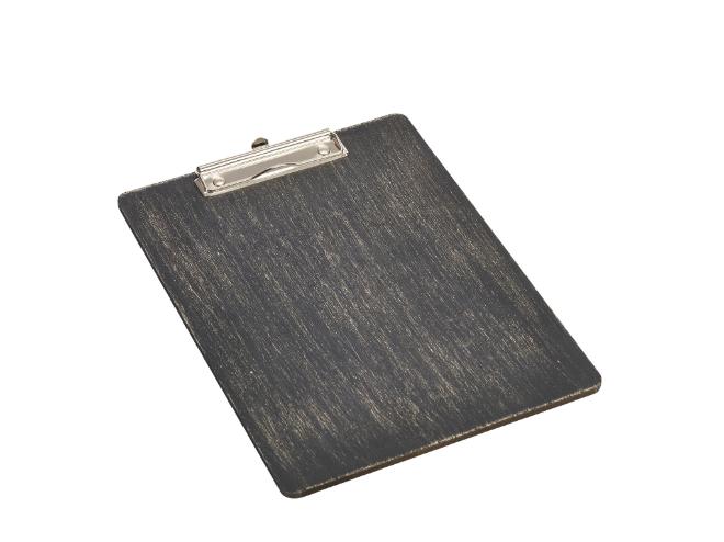 Houten menu-klembord zwart A4