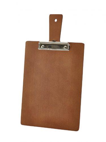 Houten menu-/rekeningklembord bruin A4