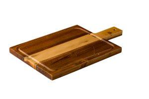 Acacia Plank Met Handvat Groot 40 X 23 Cm
