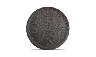 Plat Bord 27cm Zwart Croco